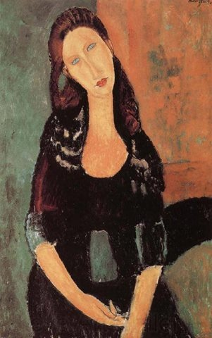 Artist: Amedeo Modigliani. I'm so excited - I found this print framed  matted for $40 at a thrift store!