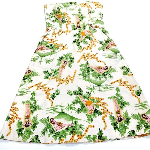 ♨️Hawaiian Theme Dress♨️  Adorable Hawaiian themed dress  from Zinc   Size 5  As always, all items are from a smoke-free and pet-free home  Thanks for shopping Reclaimed Treasure by Anna Jahns  Dresses Strapless