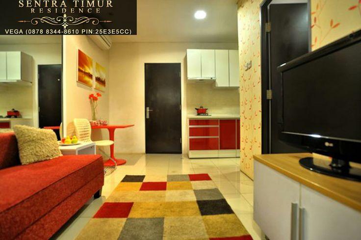 Jual Apartemen Murah. Contoh interior living room unit type 30 (1 bedroom) di Apartemen Sentra Timur Residence. http://sentratimur.vegaaminkusumo.com  #sentratimur #apartemen #jual_apartemen #apartemen_murah #sentra_timur #sentra_timur_residence #desain #desain_apartemen #desain_minimalis #minimalis #living_room #sentratimurresidence