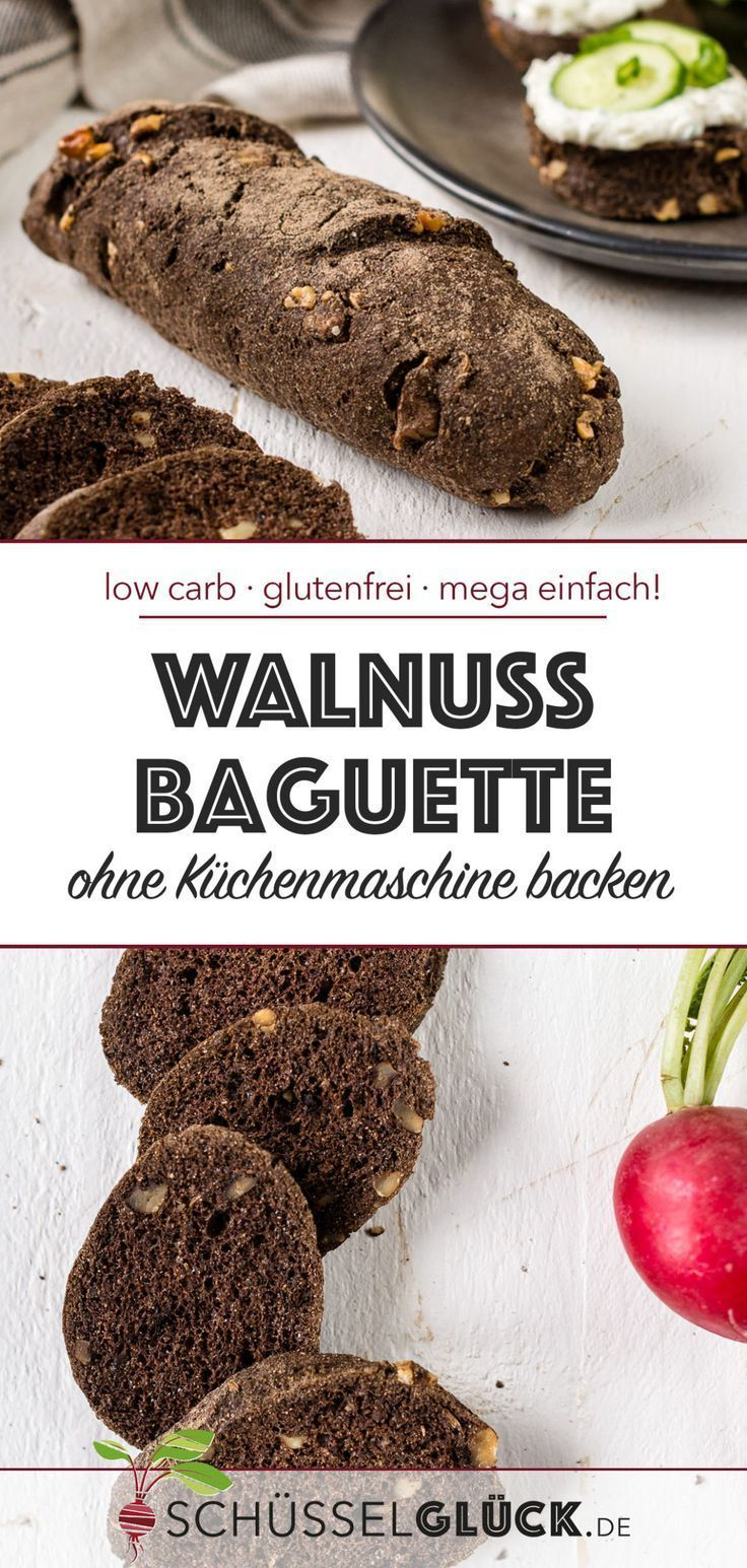 Low Carb Walnut Baguette (gluten-free)