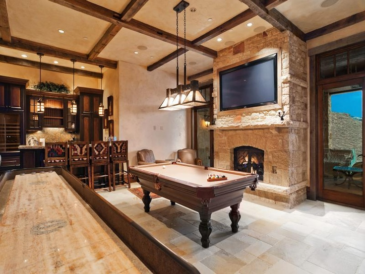 Man Cave With Pool Table And Bar : Best images about basement bars on pinterest water