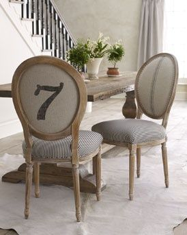 Textile Spotlight The Ticking Trend Ticking Fabric Fabric Dining Chairs A