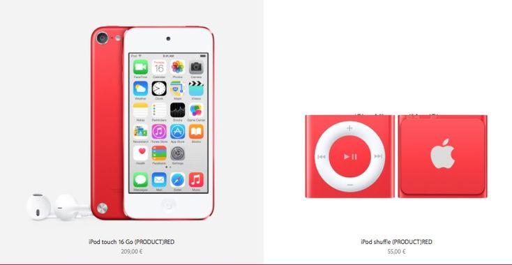 Apple rouge pour la journée mondiale de lutte contre le sida