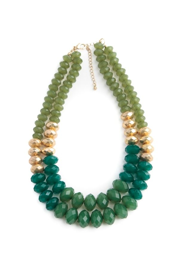 Color Block Beaded Necklace More
