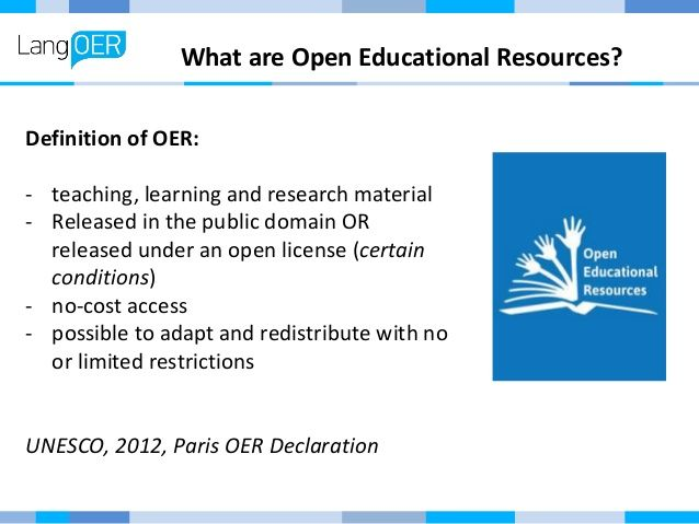 open education resources definition - Google Search