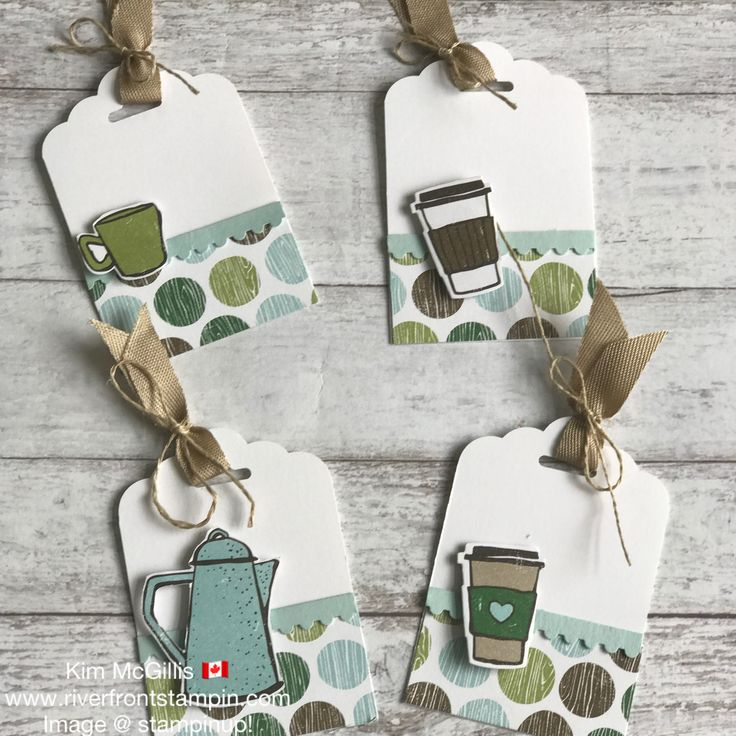 I created a stationary box and added 4 cards, 4 tags and 4 love notes. ; RiverFrontStampin.com – Kim McGillis, Stampin' Up! Demonstrator » Coffee break suite love
