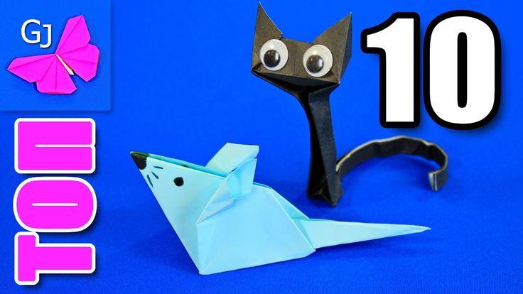 ТОП 10 Оригами животные