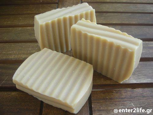 Χειροποίητο Σαπούνι με γάλα κεφίρ, μέλι και βούτυρο καριτέ για δυνατά μαλλιά και λαμπερή επιδερμίδα - Handmade Soap with milk kefir, honey and shea butter for strong hair and radiant skin www.enter2life.gr