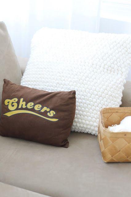 Bobble stitch pillow