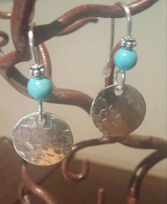 Sterling Silver and Turquoise Earrings  Turquoise Earrings
