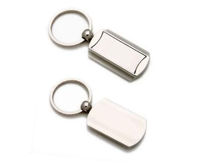 METAL KEY RINGS – K6  Price includes 1 color, 1 position print 2 Color imprint available for an additional charge.  Metal keyring with black gift box.  Decoration option: Pad print, Laser engrave  Print & Laser Engraving Area: Front 30mm x 12 mm, Rear 35mm x 18 mm