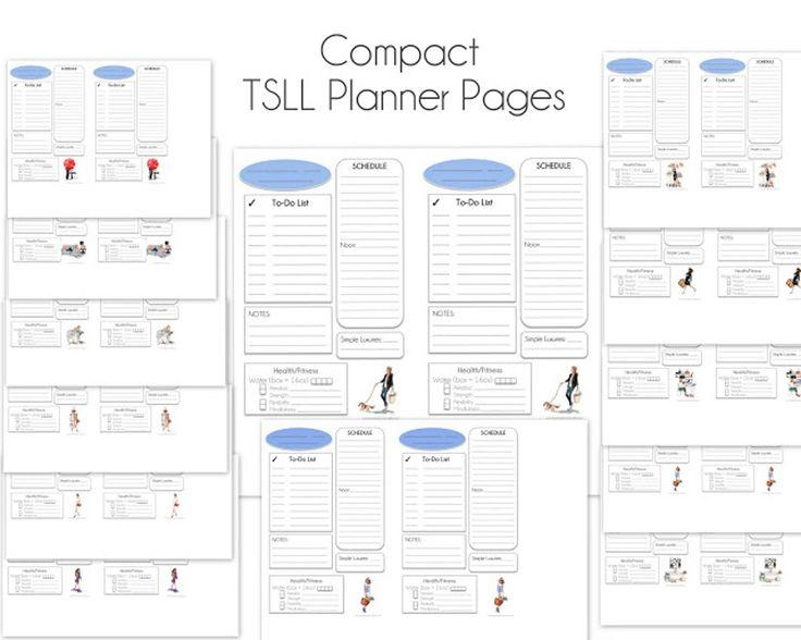 Mejores 33 imágenes de TSLL Planner Templates en Pinterest ...
