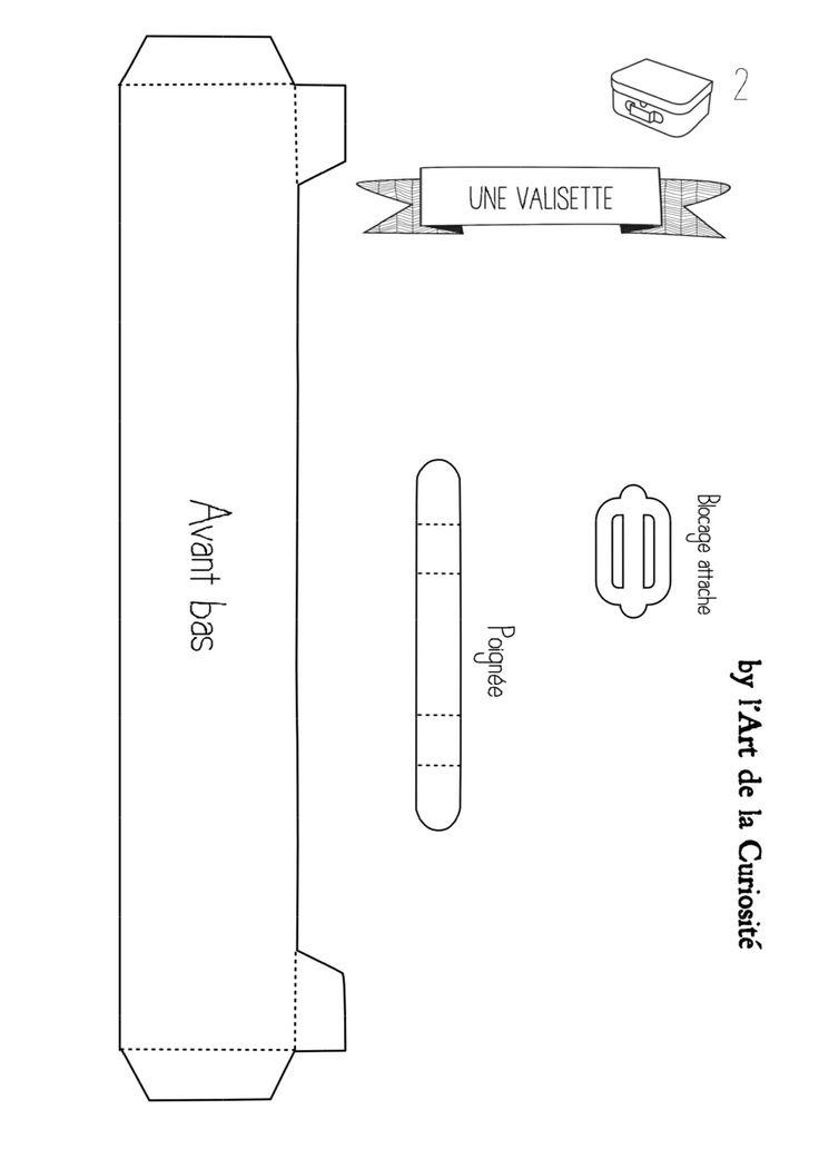 Pour fabriquer une valisette en carton plan 2