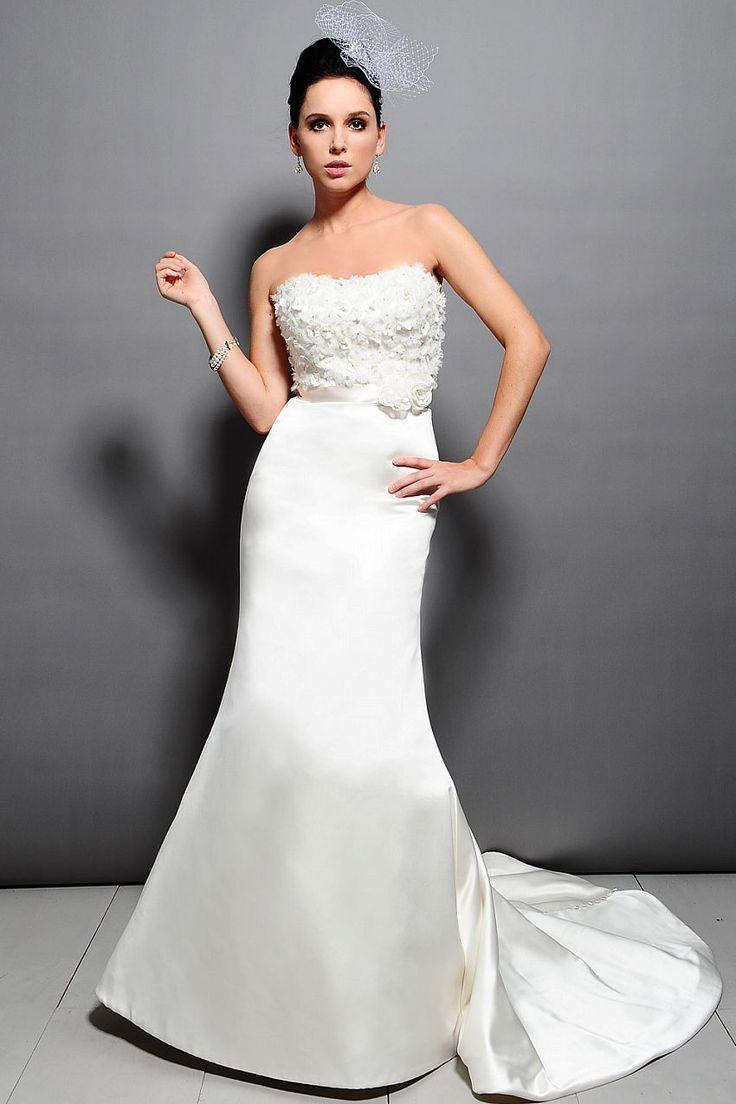 Fancy Pretty trumpet mermaid empire waist satin wedding dress wedding dresses to rent wedding dresses to rent wedding dresses to rent