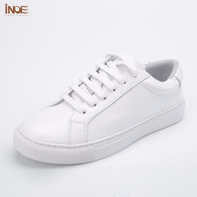 Special offer INOE 2017 fashion style man spring autumn casual shoes for men genuine cow leather flats shoes white loafers driving car shoes just only $62.13 with free shipping worldwide  #menshoes Plese click on picture to see our special price for you