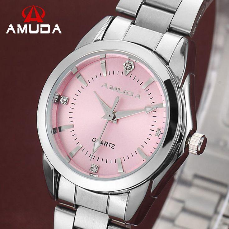 Купить товар2016 Женская Мода Розовый Платье Часы Luxury женская…