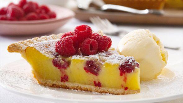 Zitronen-Himbeer-Tarte mit Eiscreme: Rezept auf for me