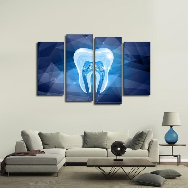 Geometric Tooth Multi Panel Canvas Wall Art Dental Wall Art Dental Office Decor Diy Canvas Wall Art