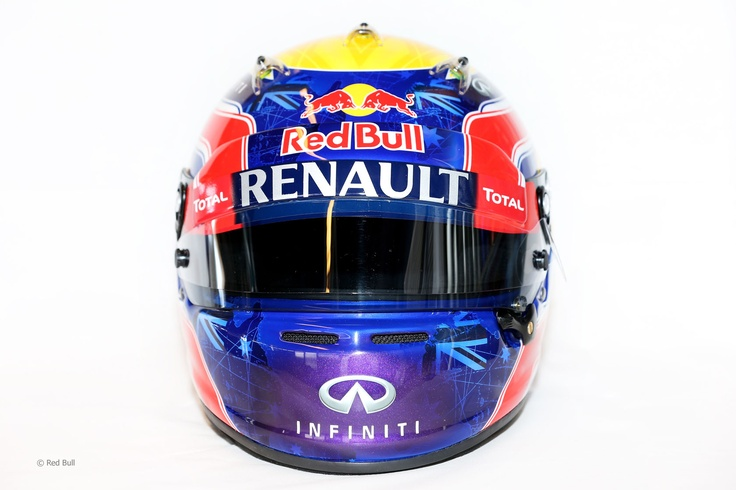 Mark Webber 2013 - Front View - Image rights and ownership are of the RedBull Racing F1 team and courtesy of F1 site F1 Fanatic.