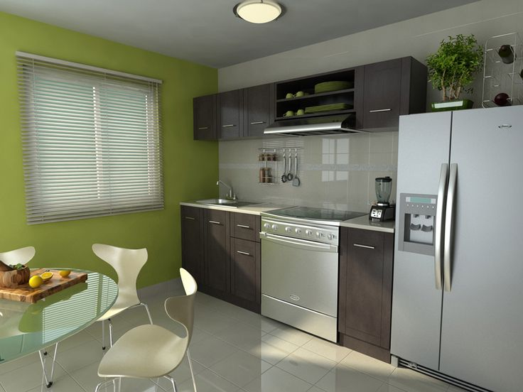 Una cocina completamente equipada