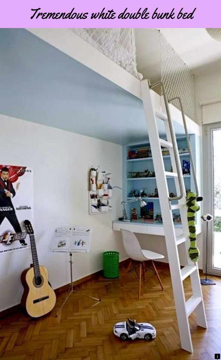 Double loft bed with stairs  Read information on white double bunk bed Simply click here for