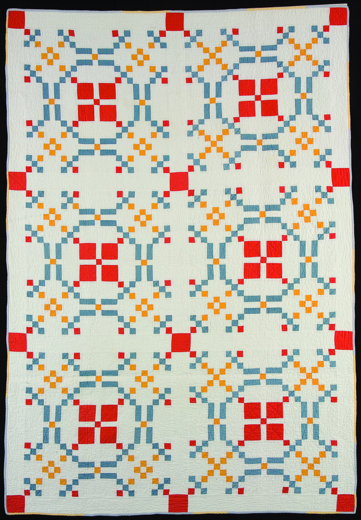 """""""Burgoyne Surrounded,"""" maker unknown, West Virginia, 1935-1940, 84 x 58"""". In:  Colonial Revival Quilts at the Quilt Museum in Lincoln NE, November 2012."""
