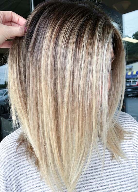 If You Are Searching For Latest Hair Color Highlights To Make Your Medium Or Shoulder Length Hai Balayage Straight Hair Hair Color Highlights Latest Hair Color