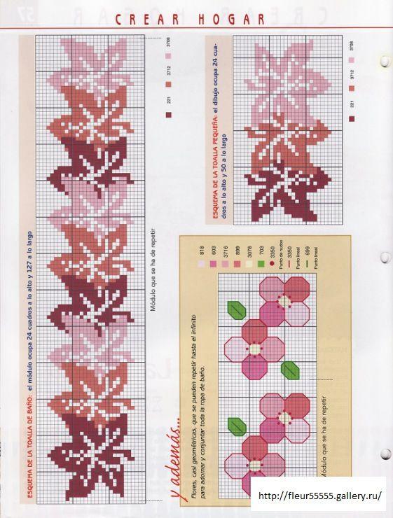 cross stitch leaf border - Gallery.ru / Фото #1 - 2 - Fleur55555