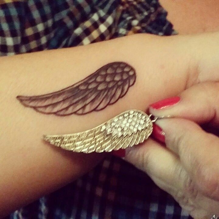 Wrist Wing tattoo                                                                                                                                                                                 More