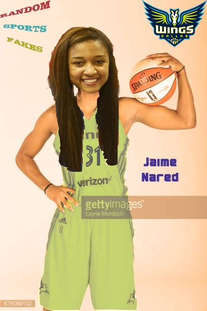 Ex-Tennessee Lady Vol Jaime Nared of the WNBA Dallas Wings poses for portraits on May 2 2018 at College Park Center in Arlington Texas