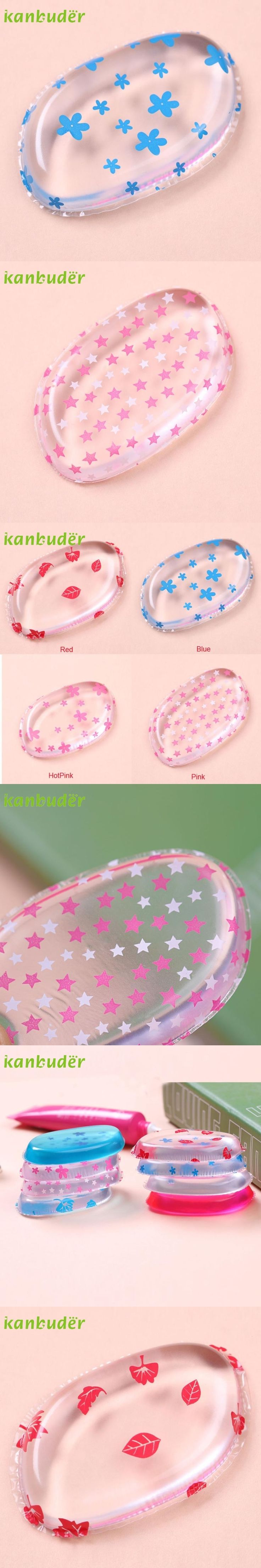 KANBUDER FeatheringWomen Flowers Printed Silicone Makeup Puff For Liquid Foundation BB Cream Beauty Essentials R168