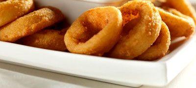 Τηγανιτά δαχτυλίδια κρεμμυδιών - Onion rings