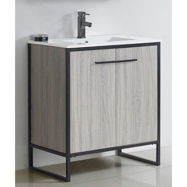 Vdara 30-inch Grey Taupe Bathroom vanity Cabinet Set