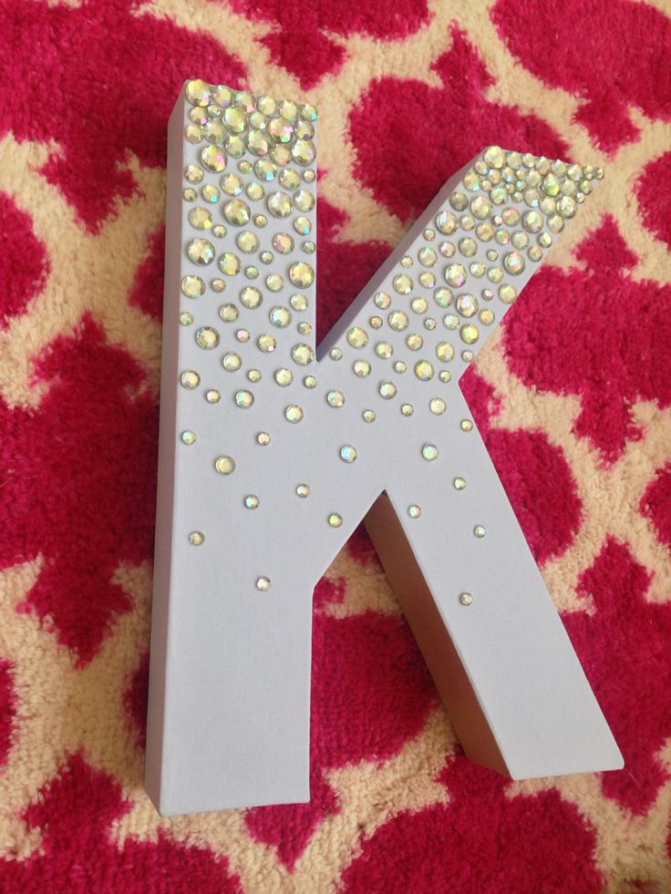 DIY big little sorority craft letter! :)