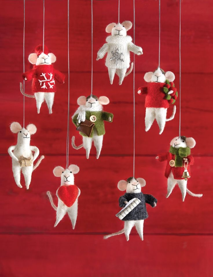 314 best holiday images on pinterest christmas deco christmas our martha stewart living mistletoe mouse festive mouse ornament is so charming that the kiss under the mistletoe may be for him let this christmas mouse solutioingenieria Image collections