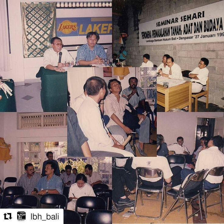 From @lbh_bali (@get_repost)  Meski LBH Bali resmi menjadi kantor cabang dari YLBHI pada tanggal 25 Oktober 1999 namun cikal bakal LBH Bali telah dimulai jauh sebelumnya pada awal tahun 90-an. Keberadaan LBH Bali tak bisa dilepaskan dari pergerakan mahasiswa Universitas Udayana (Unud) serta Yayasan Manikaya Kauci. Yayasan Manikaya Kauci kemudian menjadi cikal bakal berdirinya LBH Bali yang diawali dengan dibentuknya Pos YLBHI tahun 1993 dan diresmikan oleh Adnan Buyung Nasution  Pada tahun…