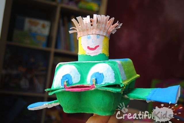 Easy Crafts with Toilet Paper Rolls and Egg Cartons � Plane and Pilot
