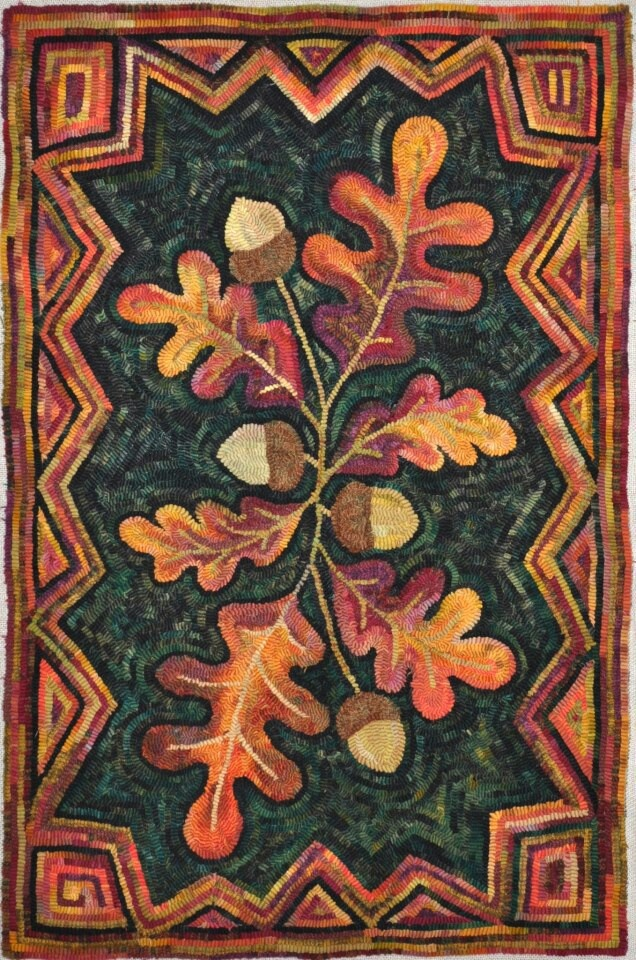 Gene Shepherd rug hooking design