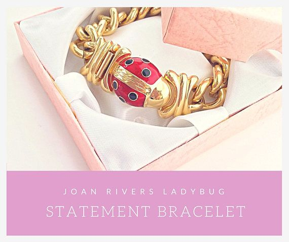 who is up for Ladybug ? Statement bracelet by  Joan Rivers Tap to see more