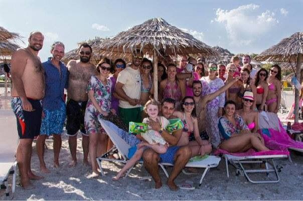 Pre wedding beach party