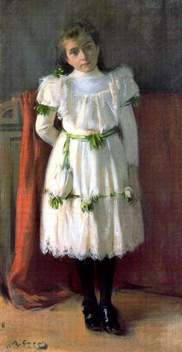 The Athenaeum - Portrait of a Girl (Ramon Casas y Carbó - )
