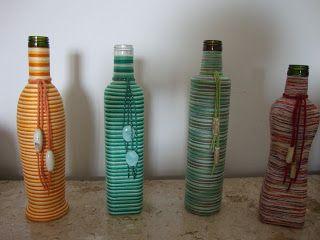 Artesanais & Cia: Garrafa vidro.