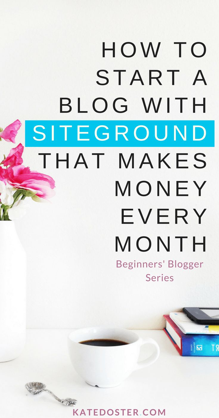 How to start a blog with Siteground that makes money every month. Why Siteground wins when it's Siteground vs BlueHost, Godaddy vs Siteground. Why Siteground is the best website hosting for new bloggers. Coupon of Siteground 60% off #HowtoStartABlog