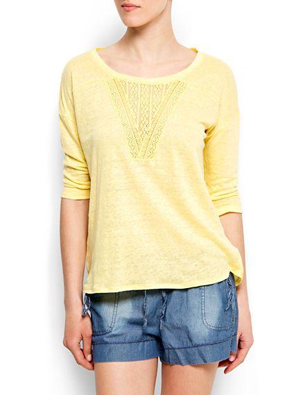@MANGO (MANGO outlet) maglietta spree giallo bis