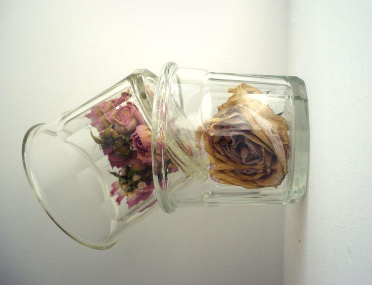 Pots à confiture anciens en verre - Bocaux en verre - French Jar With - Décor Cuisine Rétro de la boutique SaintFrusquin sur Etsy
