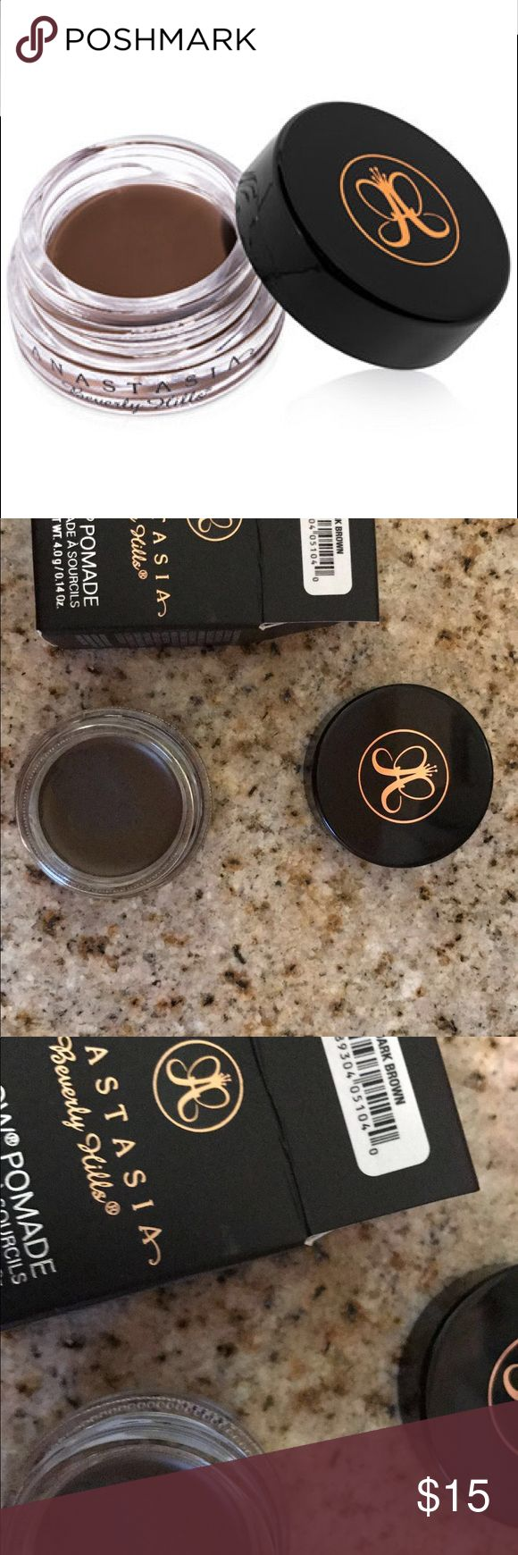 Anastasia Dip Brow Pomade Dark Brown Used only ONCE!! It was not my color and comes in box Anastasia Beverly Hills Makeup Eyebrow Filler
