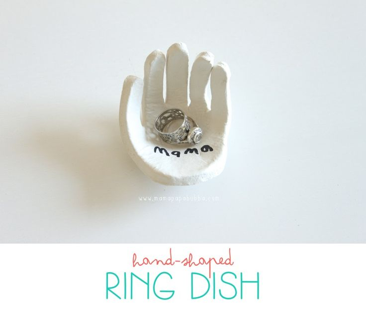 A hand-shaped ring dish for mom.