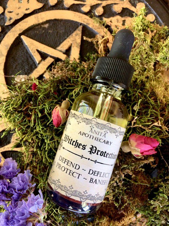 Witches Protection Oil~Ritual Oil, Witch Protection, Magick, Altar