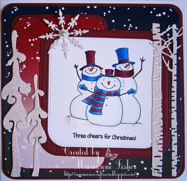 Marianne's Craftroom: Three cheers for Christmas
