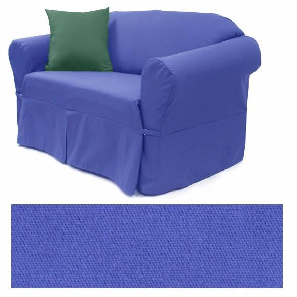 Twill Royal Blue Sofa Slipcovers